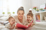 stay-at-home mom reading with kids, all parents need life insurance
