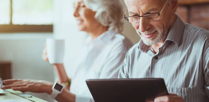older couple looking at life insurance, life insurance for seniors